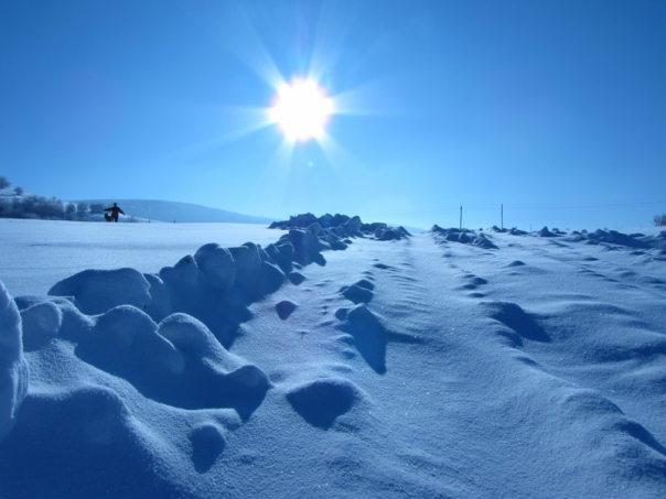 Зима в горах крыма